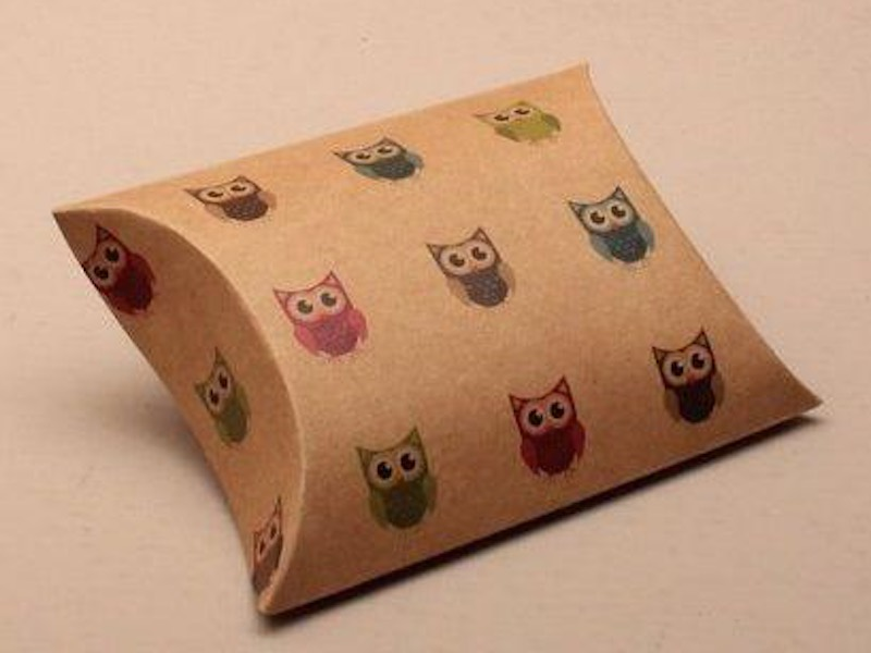 Owl Stamped Pillow Favors