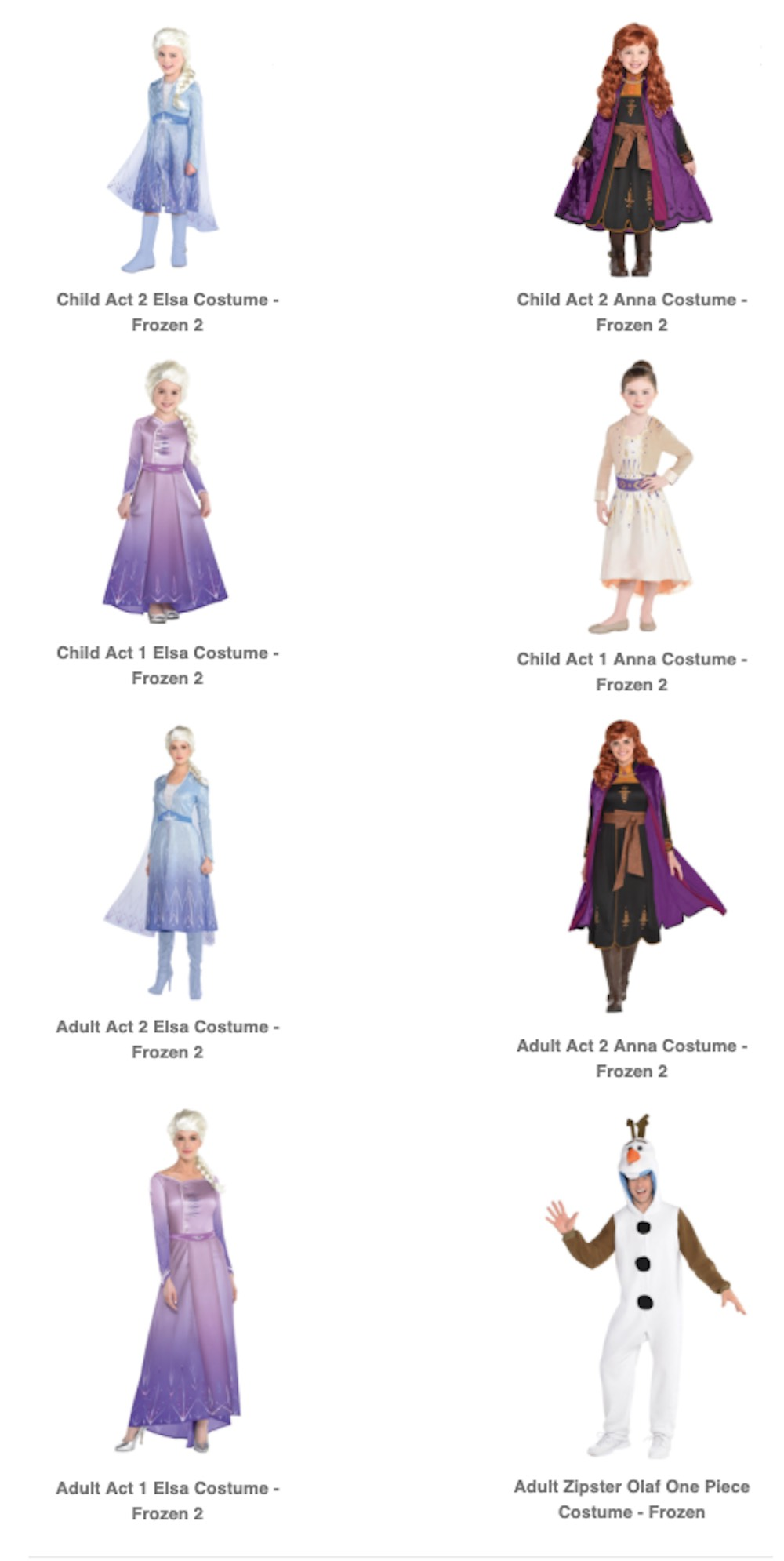 Discover Frozen Halloween Costumes for the Entire Family at