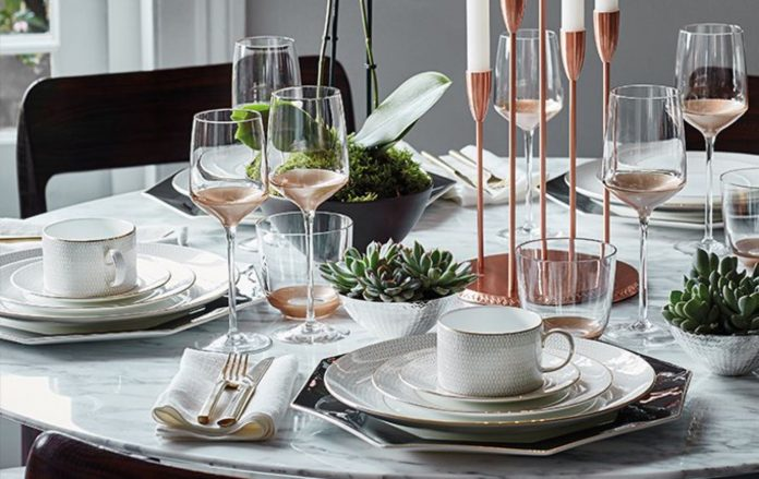Luxe and Contemporary Arris Tableware Collection Available at Wedgwood