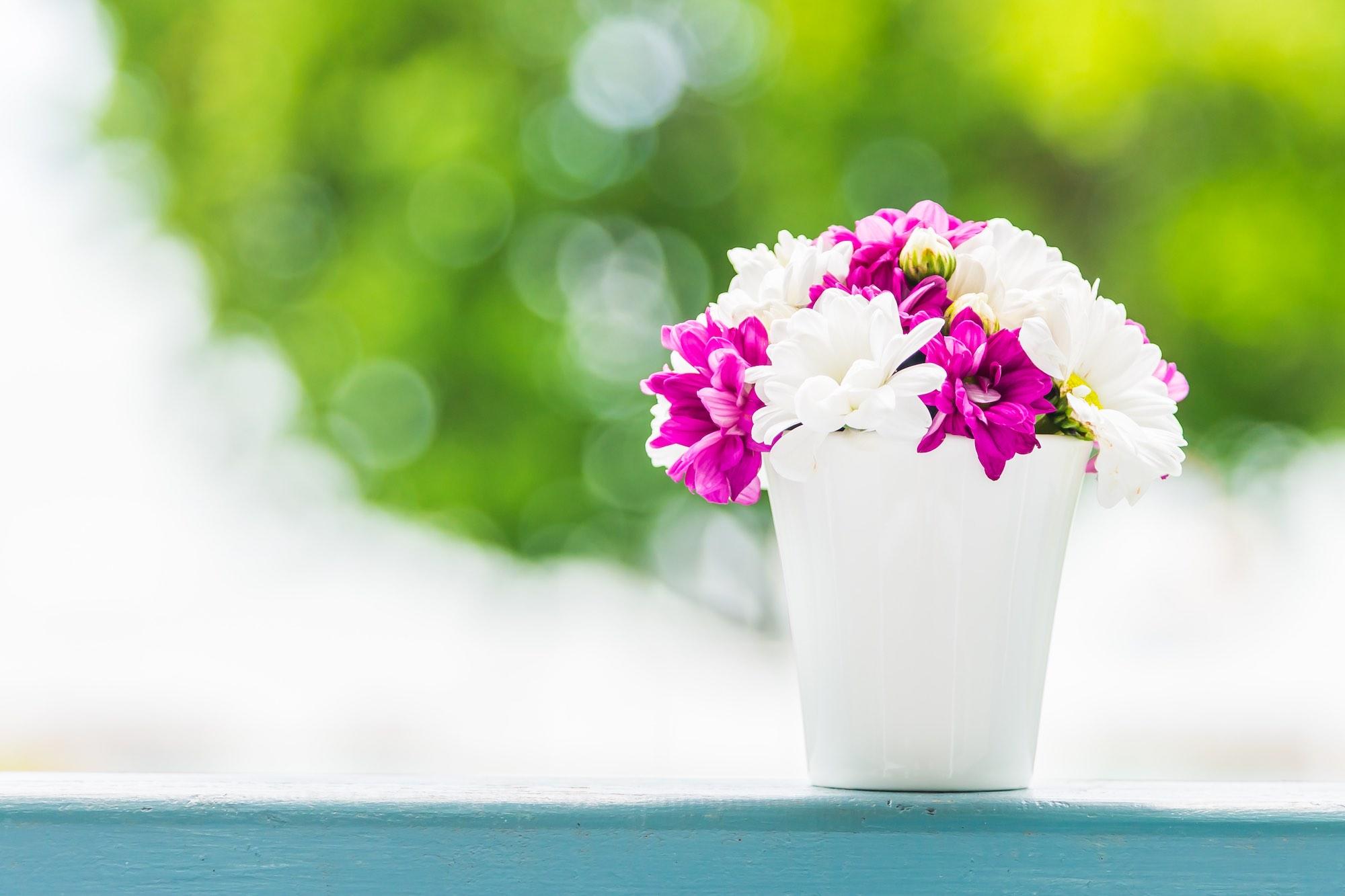 Boquet of flower in vase