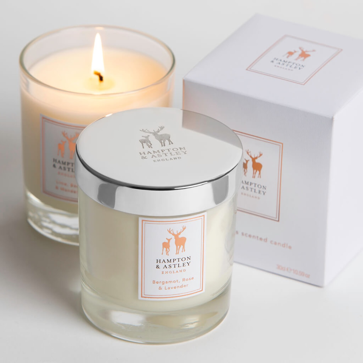 A special treat for Mum with the 3 of award-winning luxury candles, now available for £49.99 from Hampton and Astley