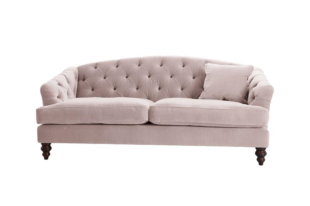 Darlings of Chelsea Paisley Sofa Easy Clean Plush Velvet Petal