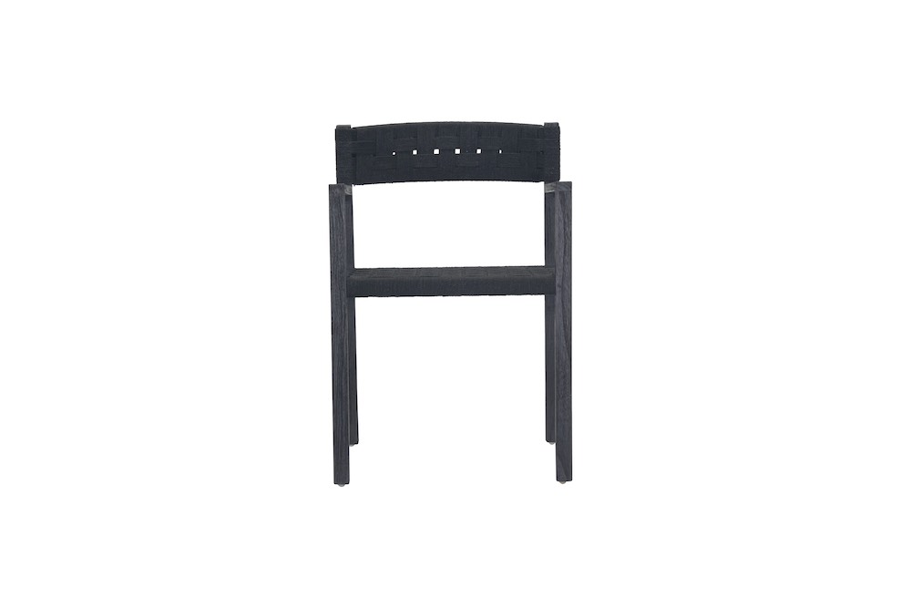 Logan Weave Arm Chair in Black