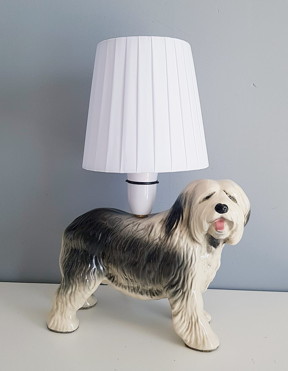 A Twist of Somerset, Old English Sheepdog Table Lamp