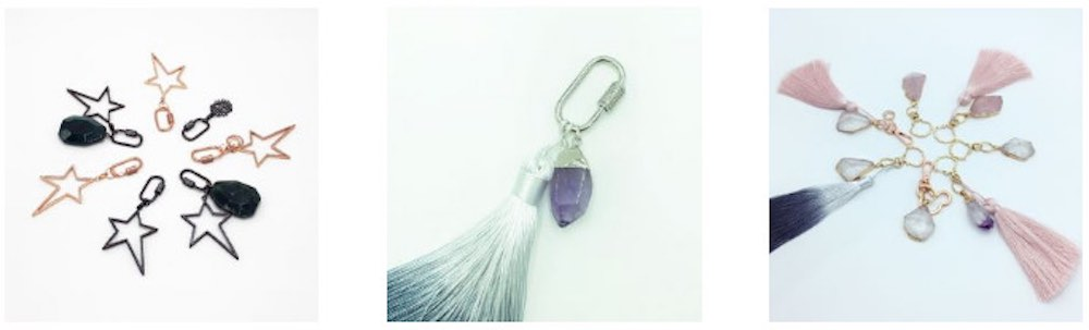 Soothing, Healing and Calming Crystal Keychains for Bags or Keys