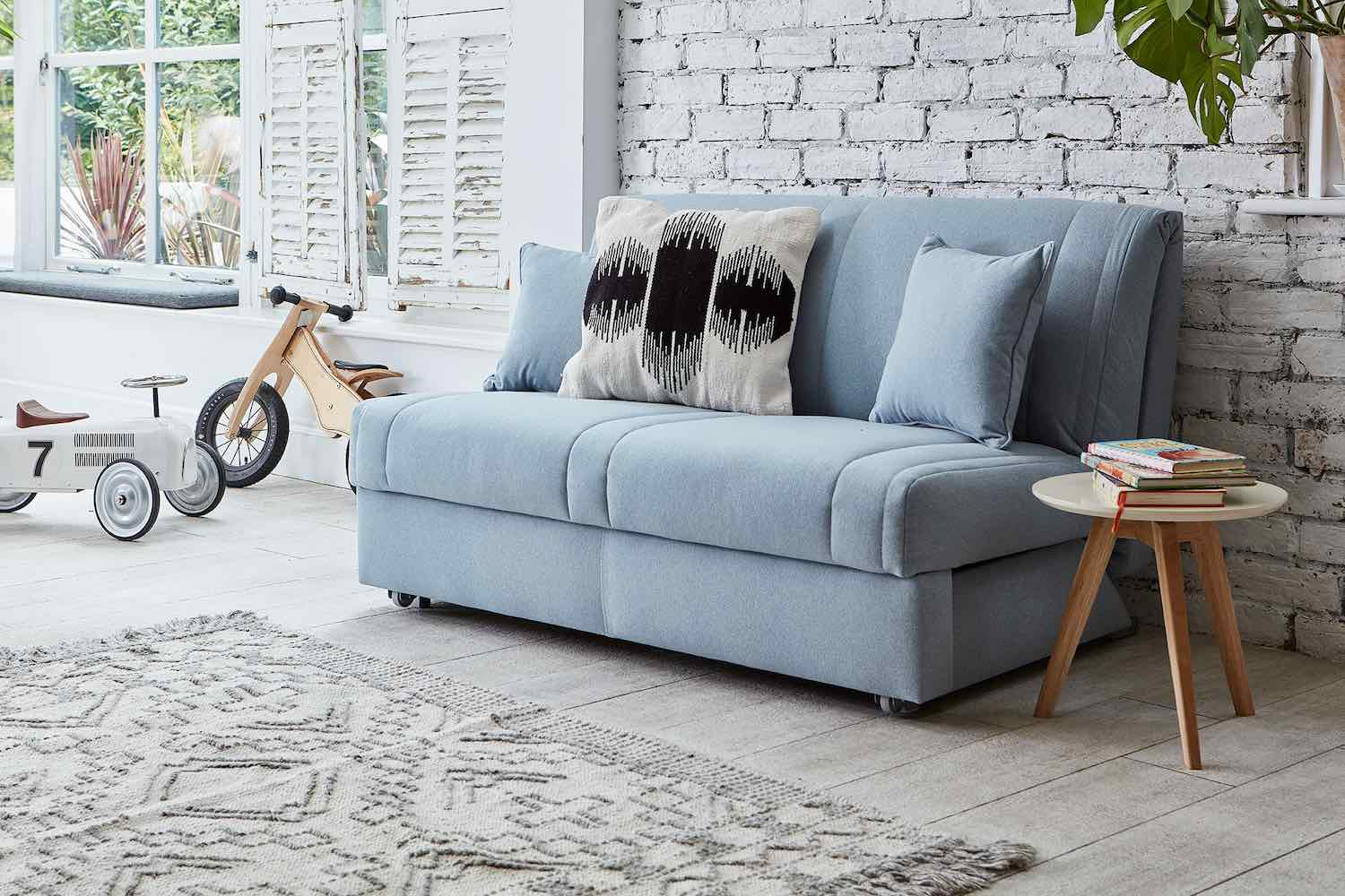 Bring ultimate comfort into your space with the Launceston 2 Seater No Arms Sofa Bed from Darlings of Chelsea.