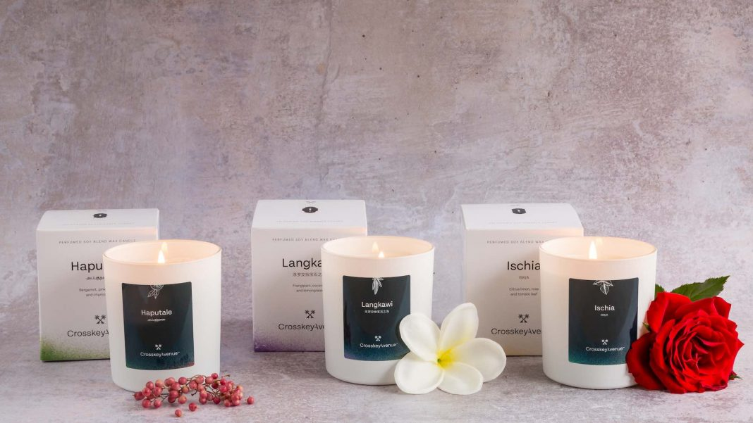 Crosskey Avenue's range of scented candles